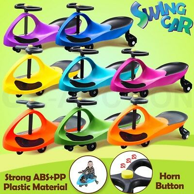 Swing Car Swivel Slider Kids Fun Ride On Toy Plasma Wiggle Scooter with Foot Mat