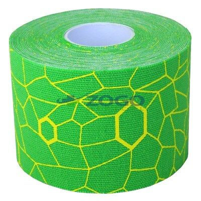 "Theraband Kinesiology Tape 2"" x 16.4 Foot Roll Green/Yellow"