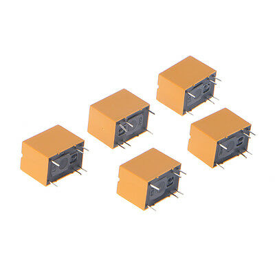 5 Pcs 3V Relay HK4100F-DC3V-SHG 6 Pins 3A 250V AC 30V DC Yellow