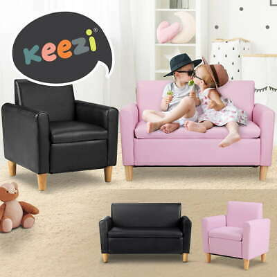 Artiss Kids Sofa Single&2 Seat Storage Toys Chair Armchair Couch Leather Padded