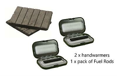 BONUS PACK Highlander Pocket Hand Warmers Pack of 2  Plus 12 Refill Rods