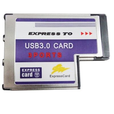 BC718 Notebook Express to 3-Port USB 3.0 54MM FL1100 Expansion Card for Laptop