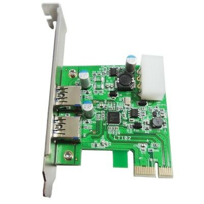 External 2 Port with 4 Pin Power Connector PCI Express to USB3.0 Converter LT102