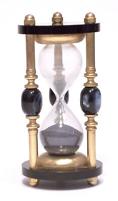 Clessidra Vintage In Ottone Con Pietre - 3 Minuti - Hourglass Sand Timer