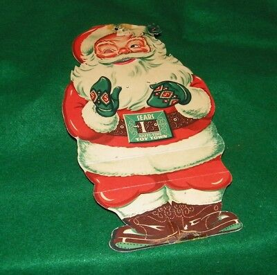 1940s SEARS Santa Claus give away SEARS HAPPI TIME TOY TOWN