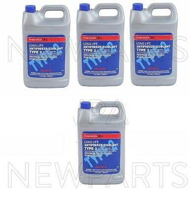 For Honda Acura Sterling 4 Gallons Engine Coolant Antifreeze Type 2 Blue Genuine