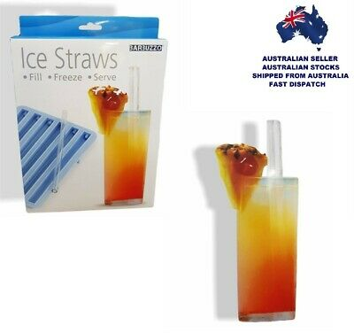 """""""ICE STRAWS"""" Who Needs Ice Cubes? Fill, Freeze, Serve!"""