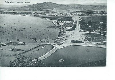 B/w  Postcard View Of Gibraltar Neutral Ground (196)