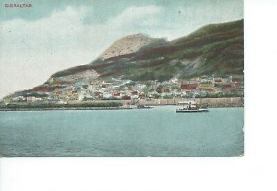 Coloured Postcar View Of Gibraltar