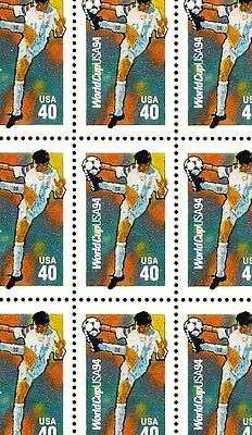 1994 - WORLD CUP SOCCER - #2835 Full Mint -MNH- Sheet of 20 Postage Stamps