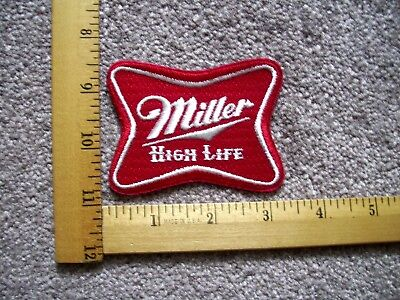 One Miller High Life Beer Iron On Patch