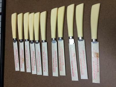 Shell Oil Company Gas Station Freebie 11 Steak Knives Quikut Stainless