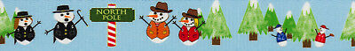 Country Brook Design® 1 Inch Snowman Party Polyester Webbing, 50 Yards