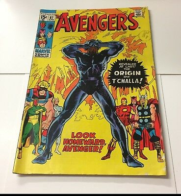 The Avengers #87 April 1971 Bagged Marvel Comic ORIGIN OF THE BLACK PANTHER