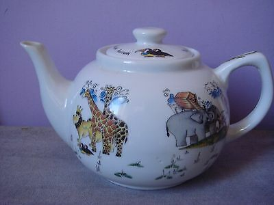 PAUL CARDEW NOAH'S ARK NOVELTY TWO PINT TEAPOT The Animals Went in Two by Two