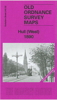 Old Ordnance Survey Map Hull West 1890 Spring Bank Anlaby Road Paragon Square