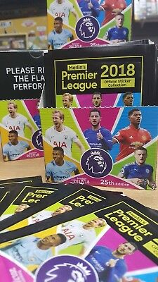 Topps Merlin's Premier League 2018 Official Stickers 15 30 60 packs or Box