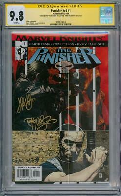 PUNISHER V4 #1 CGC 9.8 SIGNATURE SERIES SIGNED x2 MARVEL COMICS NETFLIX