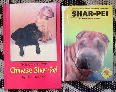 2 Books- The Complete Chinese Shar-Pei Dogs & Color Shar-Pei Dog Book- Breeding+