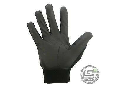 Friction DG Disc Golf Gloves - Pair - WOMENS - ALL SIZES - BLACK