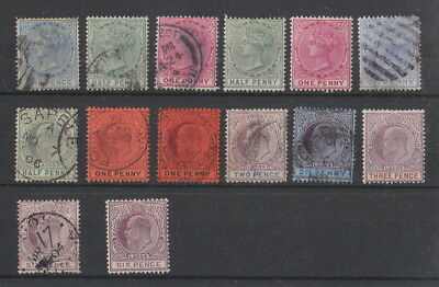 Lagos QV - EDVII collection , 14 stamps.