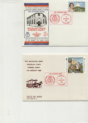 Isle of Man 1980 Pair of Salvation Army Garden Party Covers