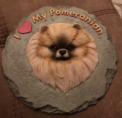 I Love My Pomeranian Dog Wall Plaque Hanging ~ Resin Material~10 Inches 3D