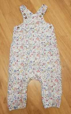 NEXT Baby girls 6-9 months dungarees floral cotton