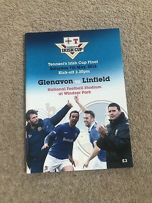 Glenavon v Linfield 7th May 2017 Irish Cup Final   MINT Official