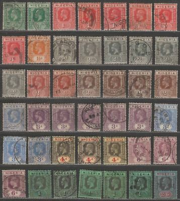Nigeria 1921-32 King George V Set to 2sh6d Used SG15-27 the 2sh6d is fiscal use