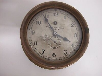 """5"""" Dial Special Order Chelsea Clock """"Chicago Pneumatic Tool Co. Keeps Great Time"""
