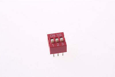 1 Pcs 2.54mm Pitch 3 Positions 6 Pin Red DIP Switch 3P
