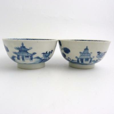 Pair Of Chinese Blue And White Porcelain Bowls, 18Th Century