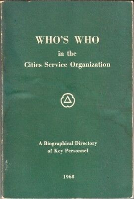 1968 Cities Service Biographical Directory of Key Personnel