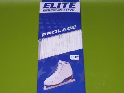 "New Elite Figure Skating  Pro Laces, White, Size  110"" / 280 Cm (Rm-6)"