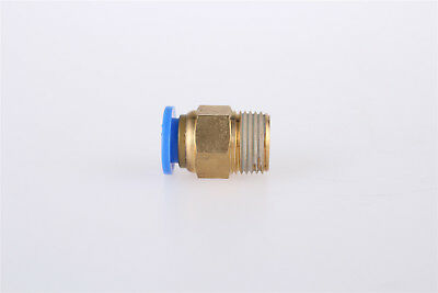 1Pcs Male Thread 6mm Pneumatic Air Tubing Connect 1/8PT Thread Quick Fittings