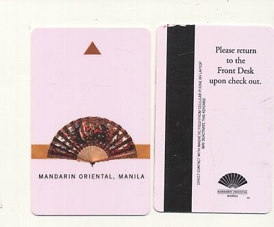MANDARIN ORIENTAL--diff color frt and back--Manila,Philippines--Room key--K-19