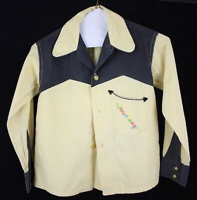 OFFICIAL The Lone Ranger Vintage 1950s Child's Western Button Down Shirt Age 10