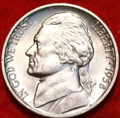 Uncirculated 1938-D Denver Mint Jefferson Nickel (Not Silver) Free Shipping