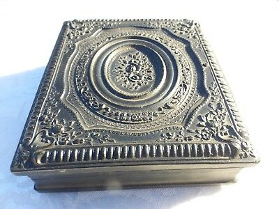 BEAUTIFUL Large Size ANTIQUE 1800s ORNATE GUTTA PERCHA CASE Amazing Condition