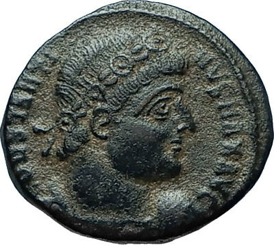 CONSTANTINE I the GREAT 330AD Authentic Ancient Roman Coin w SOLDIERS i66047