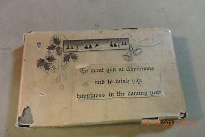 Antique engraving print block To Greet you at Christmas banner with Holy & Bells