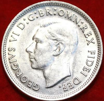 Uncirculated 1952 Australia Shilling Silver Foreign Coin Free S/H