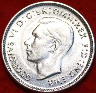 Uncirculated 1943 Australia Shilling Silver Foreign Coin Free S/H