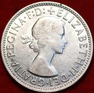 1954 Australia Florin Silver Foreign Coin Free S/H