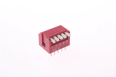 1 Pcs 5 Positions 10P 10 Pins 2.54mm Pitch Side Piano Type DIP Switch