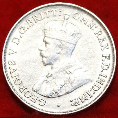 Uncirculated 1926 Australia 3 Pence Silver Foreign Coin Free S/H