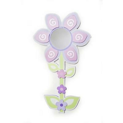 "Babies""R""Us 5373 Pink Mirror Baby Girl Nursery Flower Wall Decor BHFO"