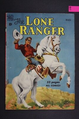 The LONE RANGER #21 Vintage Western Dell Comic Book 1950 A121