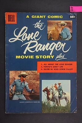 The LONE RANGER Giant Vintage Western Dell Comic Book 1956 A123